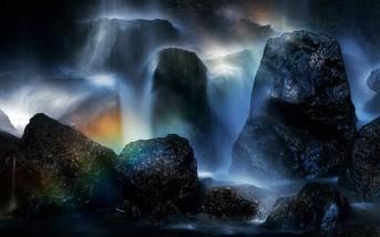 Rainbow in Tatsuzawa falls, Urabandai, Japan